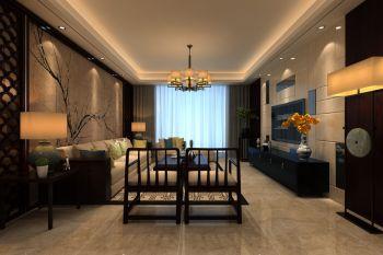 客厅新中式风格装饰效果图
