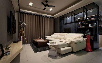 现代简约风格60平米1房1厅房子装饰效果图