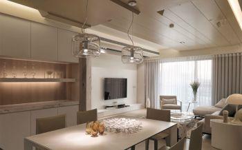 现代风格120平两室一厅新房装修效果图