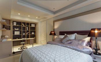卧室米色书架简欧风格装饰设计图片