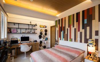 儿童房床现代简约风格装潢图片