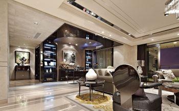客厅隔断后现代风格装修设计图片