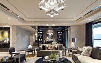 客厅灯具后现代风格装饰设计图片