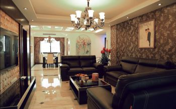 古典式风格120平米4房1厅房子装饰效果图