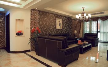 客厅地板砖古典风格装修效果图