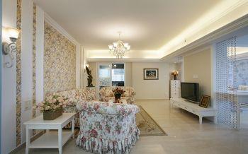 欧式田园风格110平米3房1厅房子装饰效果图