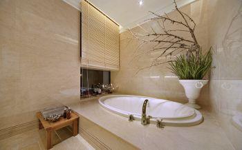 卫生间背景墙古典风格装修图片