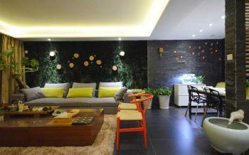 混搭风格90平米3房1厅房子装饰效果图