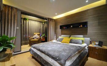 卧室黄色地板砖混搭风格装修图片