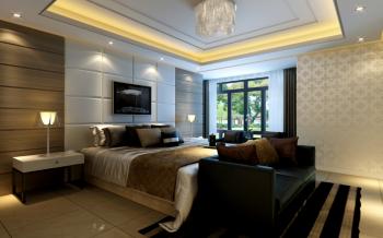 卧室灯具现代简约风格装潢设计图片