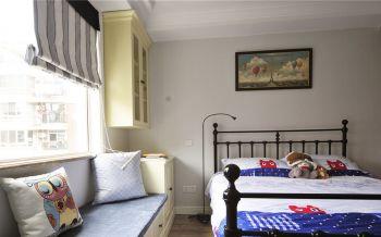 儿童房白色榻榻米美式风格装修设计图片