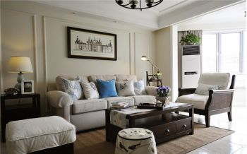 美式风格120平米三房一厅新房装修效果图