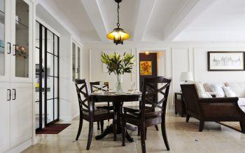 餐厅推拉门美式风格装潢设计图片