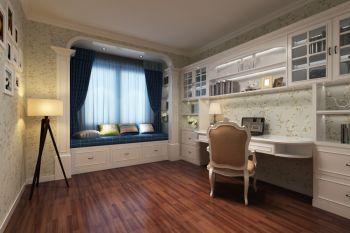 书房飘窗欧式风格装饰设计图片