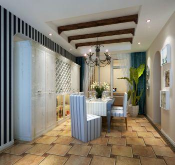 地中海风格80平米两房一厅新房装修效果图