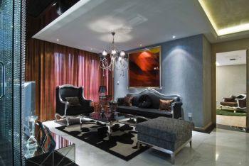 现代欧式风格100平米三室一厅新房装修效果图