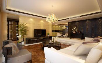 现代中式风格180平米4房2厅房子装饰效果图