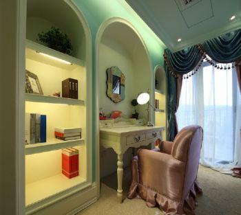 卧室梳妆台凳子地中海家装设计图