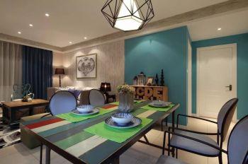 混搭风格110平米3房1厅房子装饰效果图