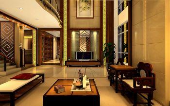 中式风格180平米复式房子装饰效果图