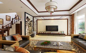 中式风格120平米4房1厅房子装饰效果图