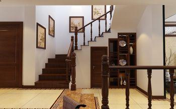客厅楼梯中式风格装修设计图片