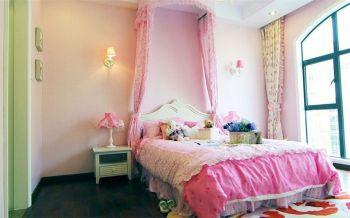 儿童房粉色床现代简约风格装修效果图