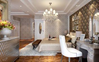 朴素温馨简欧灰色梳妆台凳子室内效果图