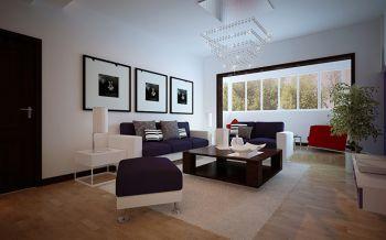 现代简约风格120平米4房1厅房子装饰效果图