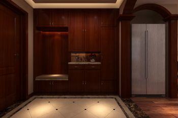 玄关实木衣柜中式设计图欣赏