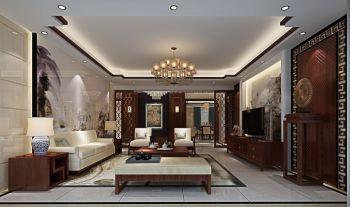 中式风格120平米3房1厅房子装饰效果图