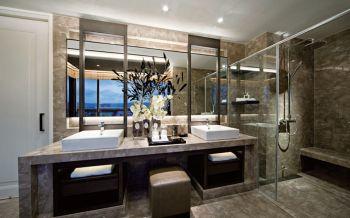 卫生间隔断后现代风格装饰图片