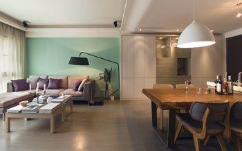 现代简约风格80平米两房一厅新房装修效果图