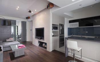 现代简约风格110平米三房一厅新房装修效果图