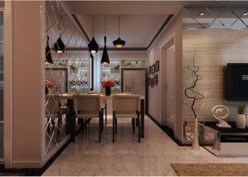 餐厅黑色灯具现代简约风格装修设计图片