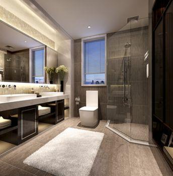 卫生间洗漱台欧式风格装饰设计图片