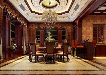 餐厅窗帘古典风格装修效果图