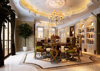 餐厅灯具古典风格装饰图片