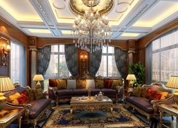 古典风格150平米别墅新房装修效果图