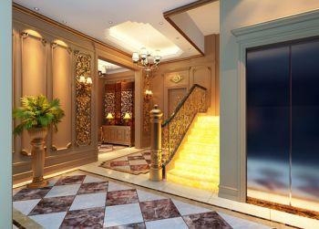 客厅楼梯古典风格装修设计图片