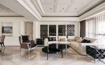现代欧式风格110平米三房一厅新房装修效果图