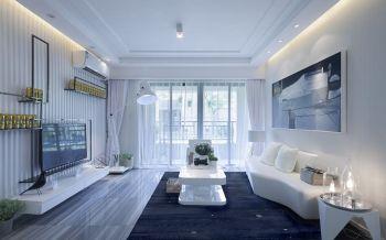 现代简约90平米2房1厅房子装饰效果图