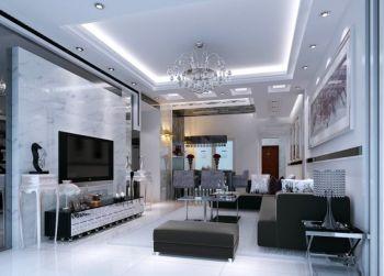 简欧风格90平米2房1厅房子装饰效果图