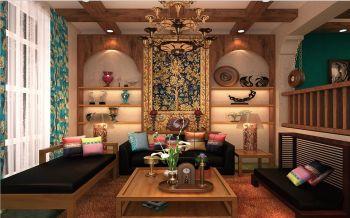 东南亚风格90平米2房1厅房子装饰效果图