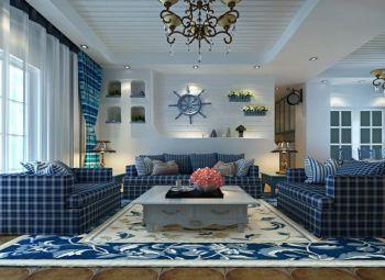 地中海风格150平米4房1厅房子装饰效果图