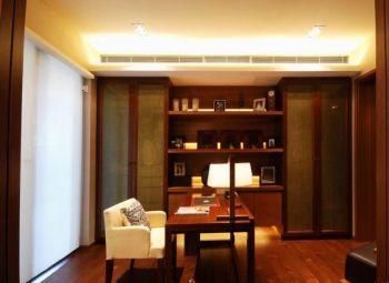 书房白色窗帘东南亚风格装饰图片