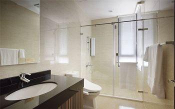 卫生间白色隔断简约风格装潢设计图片