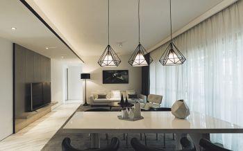 现代简约风格120平米2房1厅房子装饰效果图