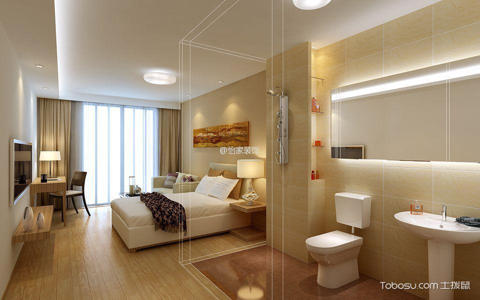 单间公寓装修效果图:通透空间小而开阔