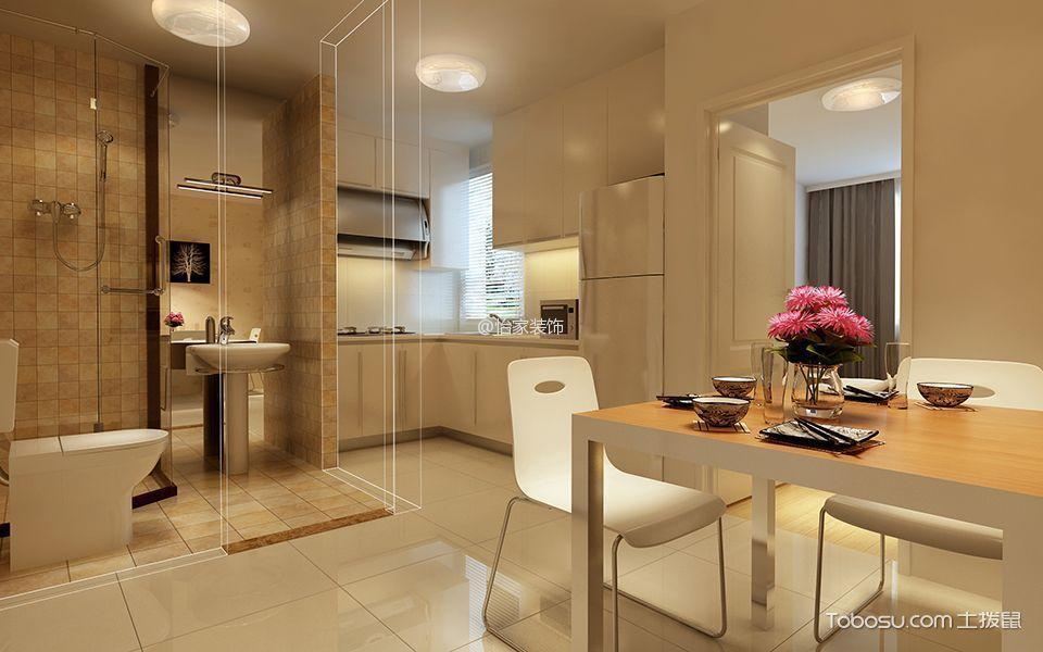 餐厅 餐桌_现代风格酒店式单身公寓住宅装修案例图